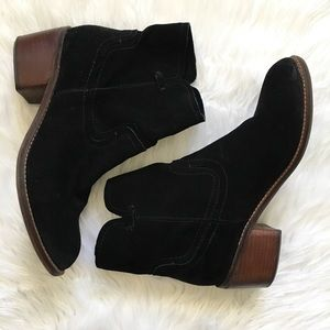 Dolce Vita black ankle boots leather suede sz 8